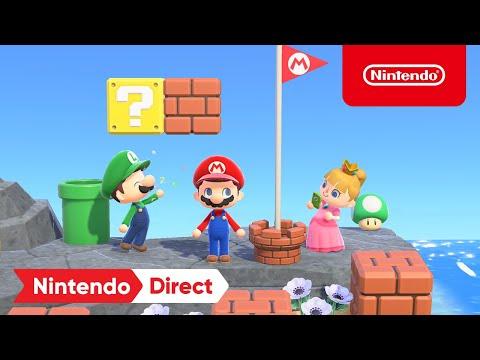 Animal Crossing: New Horizons x Super Mario Collaboration Items - Nintendo Direct 2.17.2021