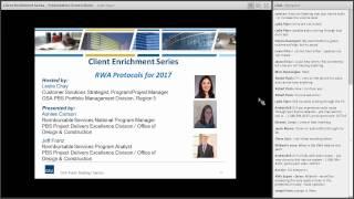 GSA PBS Client Enrichment Series-Reimbursable Work Authorization Protocols 2017