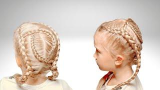Прическа с косичками | Прически для девочек