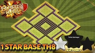 Clash of Clans | Town hall 8 | 1 Star War Base | Town Hall Protected | July 2016 | Riovo