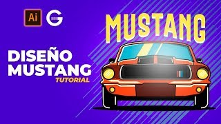 Illustrator Tutorial | Diseño Mustang | Mustang Design