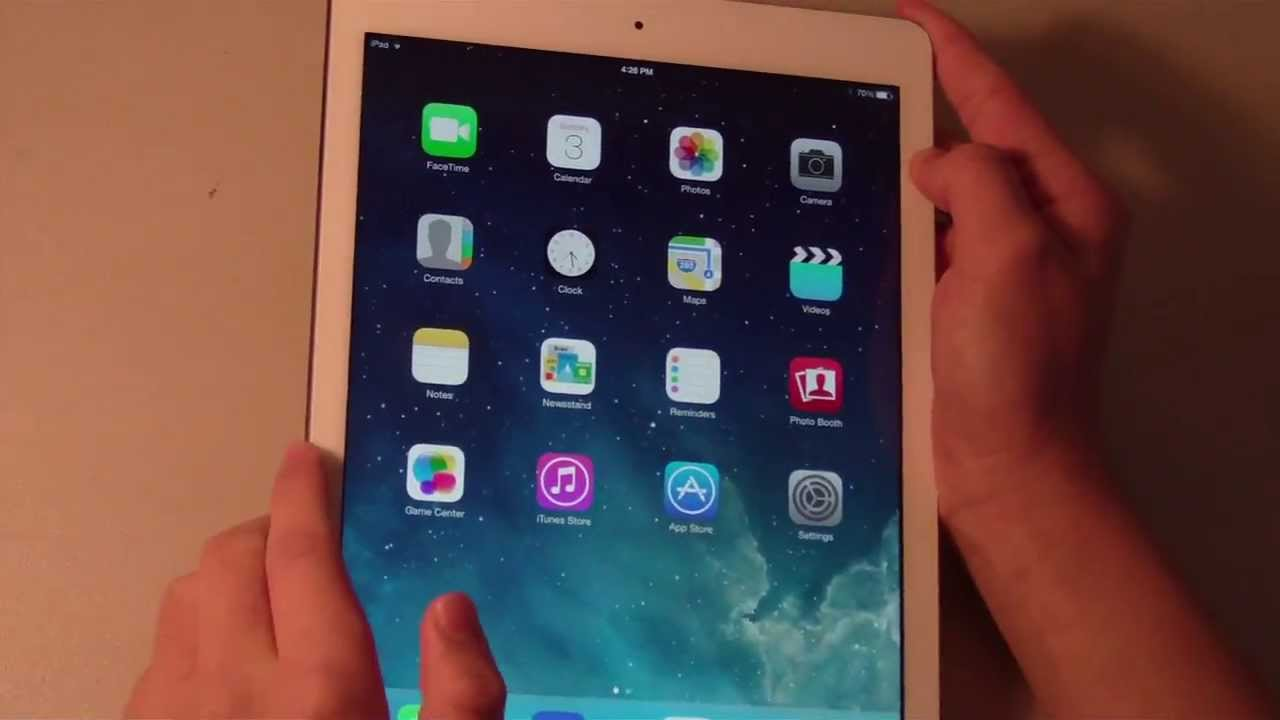 apple ipad air review white silver 16gb wi fi youtube. Black Bedroom Furniture Sets. Home Design Ideas
