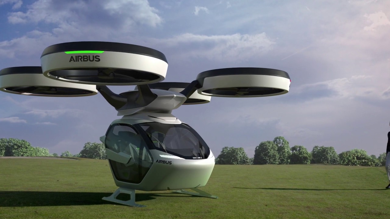 Airbus Reveals The Self Driving Transformer Taxi Youtube