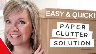 Marie Kondo inspired Paper Clutter tips with a Speedy Twist & Dollar Store Box (2019)