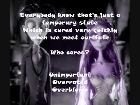 Tears To Shed Corpse Bride Lyrics Youtube