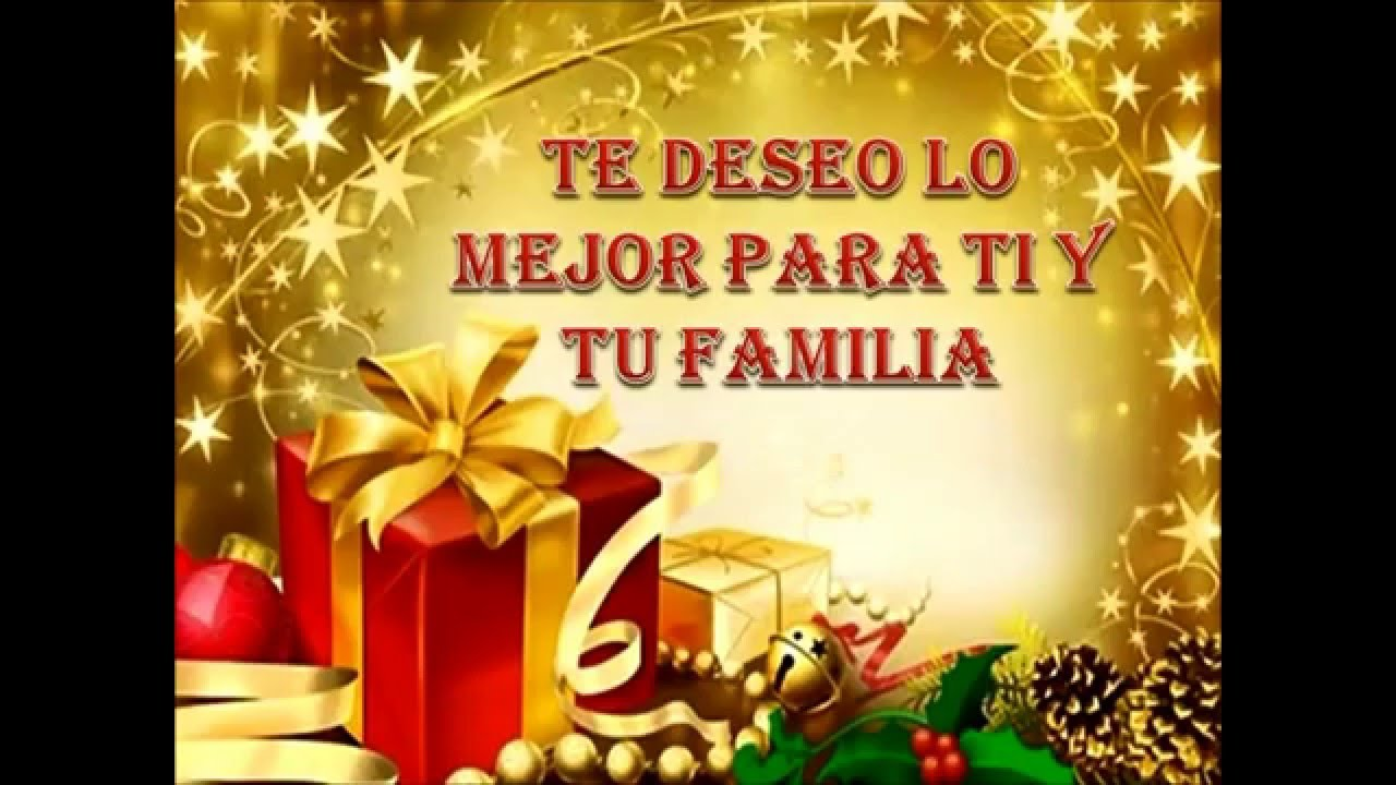 Con mis mejores deseos para ti feliz navidad youtube - Deseos de feliz navidad ...