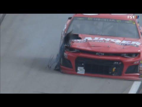 Monster Energy NASCAR Cup Series 2018. Texas Motor Speedway. Ryan Newman Puncture Crash