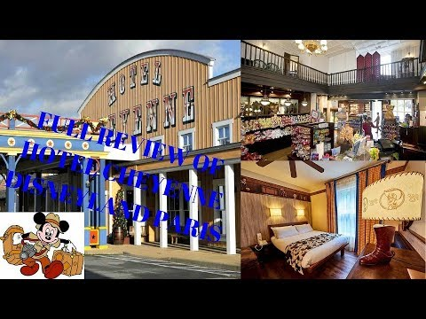 Full Review Hotel Cheyenne walk through of the area, Disneyland Paris