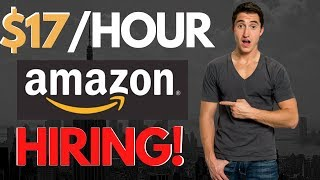 $17/HR AMAZON Work From Home Jobs HIRING RIGHT NOW! 2020