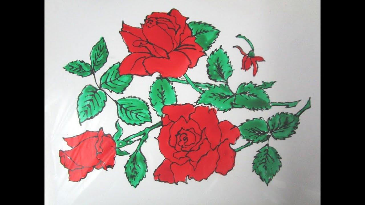 نقاشی های بسیار زیبای گل رز (7 عکس)