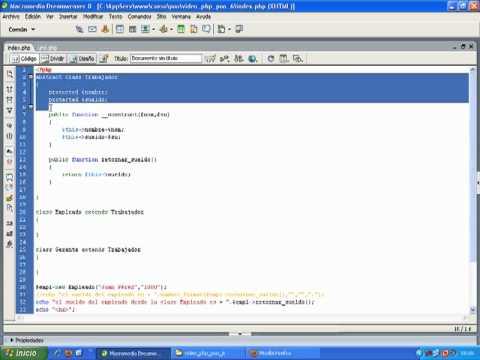 VideoTutorial 6 del Curso de PHP POO