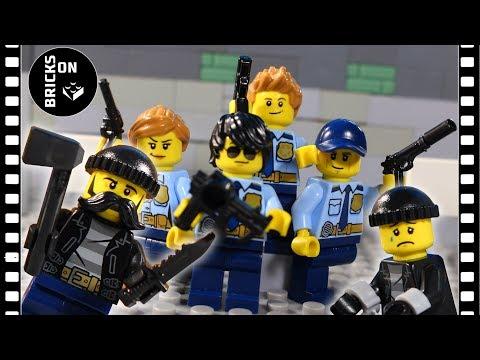 Lego Police Academy Compilation Heist Fail Lego City Police Brickfilm Stop Motion Animation
