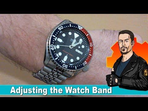Adjusting the Watch Band on a Seiko SKX009 - Jubilee Bracelet