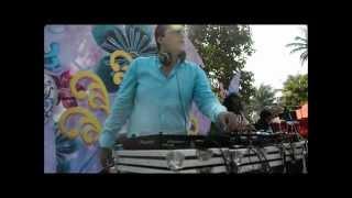 Dj Akash Rohira Live at Vizag with Jonqui on Percussions