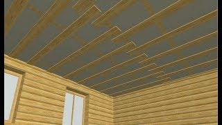 видео Как сделать черновой потолок в доме