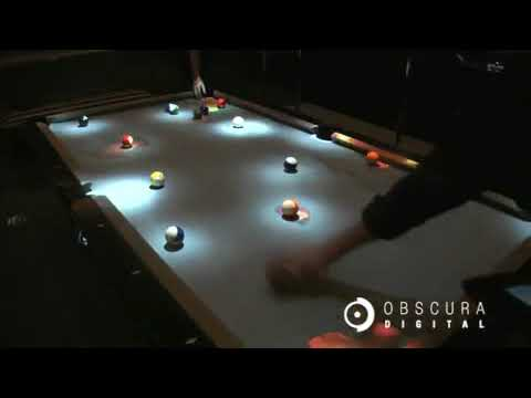 Obscura Cuelight Pool Table Youtube