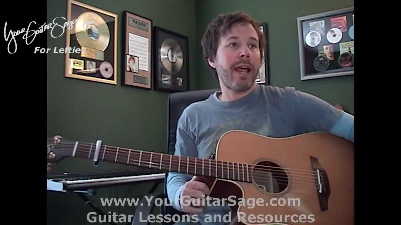 Stay Sugarland Lefty Beginner Acoustic Guitar Lesson Youtube