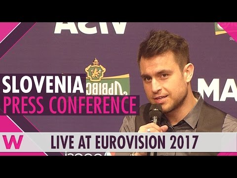 """Slovenia Press Conference — Omar Naber """"On My Way"""" Eurovision 2017 