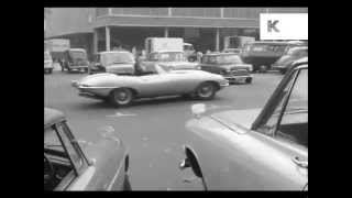 1960s Jaguar E Type Car Chase, Vintage Cars