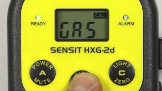 SENSIT HXG 2d Calibration