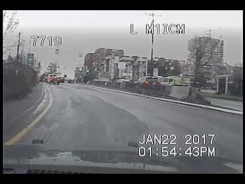 Seattle Police, pursuit of box truck up highway