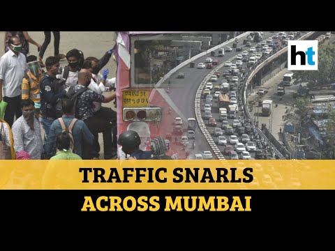 Watch: Traffic snarls reported across Mumbai as offices open partially