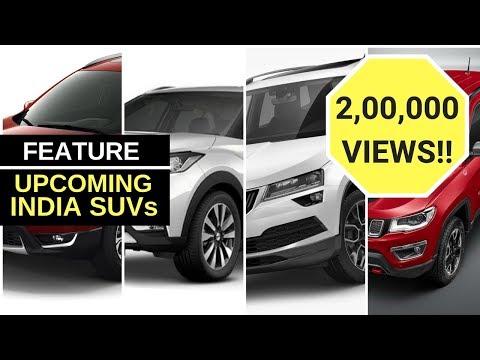 Upcoming SUVs in India in 2018, 2019
