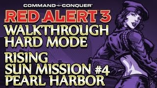 Ⓦ Command and Conquer: Red Alert 3 Walkthrough ▪ Hard - Rising Sun Mission 4 ▪ Pearl Harbor [1080p]