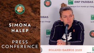 Simona Halep - Press Conference after Quarterfinals | Roland-Garros 2019