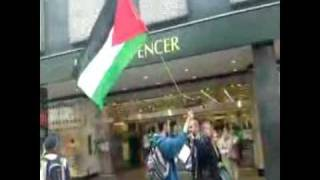 Victory to the Intifada Protest Inside and Outside Newcastle Marks and Spencer 4 June 2009