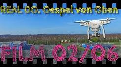Drohne mit Kamera filmt den Real Indupark Wertkauf Wal Mart Dortmund Oespel Kley