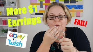 More $1 EARRINGS! (funny fail) A very EXTRA product review. Ebay vs Wish. Expectation vs reality.