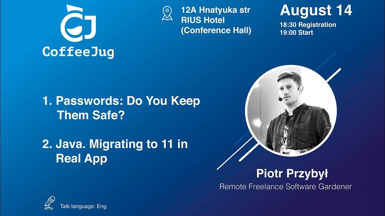 Passwords: Do We Keep Them Safe? by Piotr Przybył | CoffeeJug Meetup