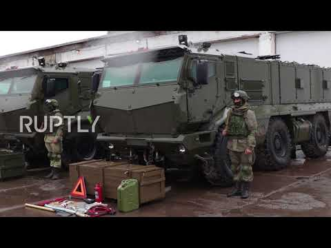 Russia: Brand new Kamaz Typhoons take part in Novosibirsk drills