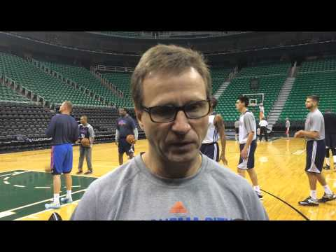Brooks: Shootaround in Utah