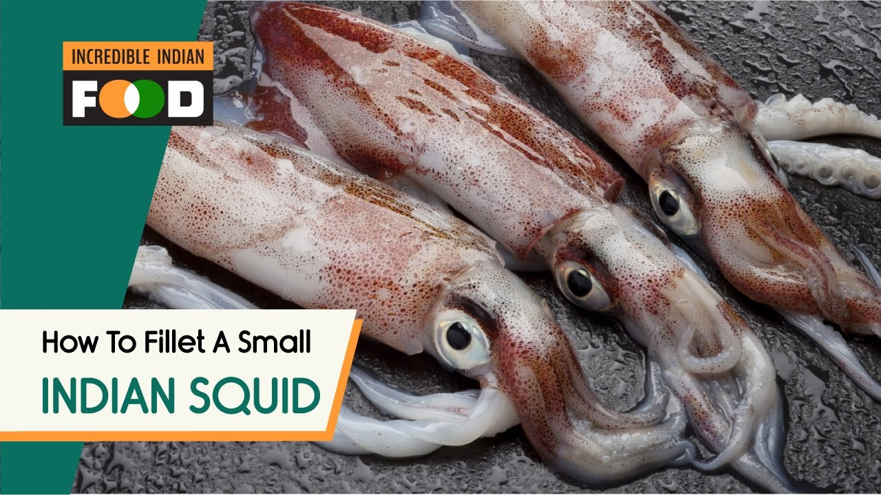 How to fillet small indian squids oosi kanavai meen for Names of fish to eat