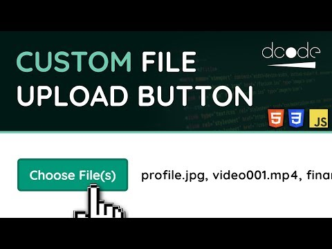 Custom File Upload Button with FileList - HTML, CSS & JavaScript Tutorial thumbnail