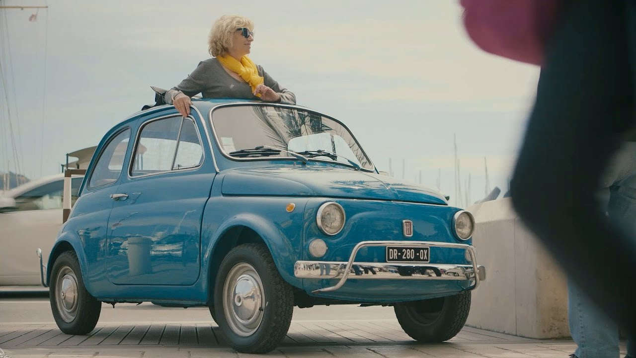 fiat 500 forever young tour in cannes youtube. Black Bedroom Furniture Sets. Home Design Ideas
