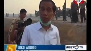vidio super lucu jokowi kembali lagi ke lokasi pemadaman lahan gambut ternyata sudah sepi petugas