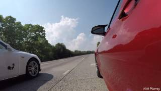 Tesla P90D vs BMW M4 rolling drag race