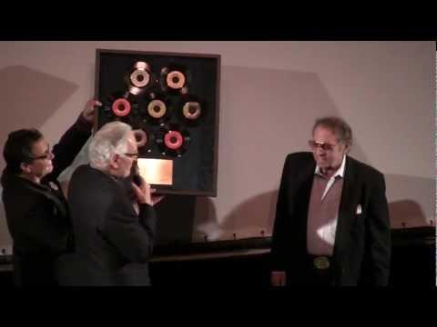 Herb Alpert, Jerry Moss, & Lou Adler present drummer Hal Blaine his 6