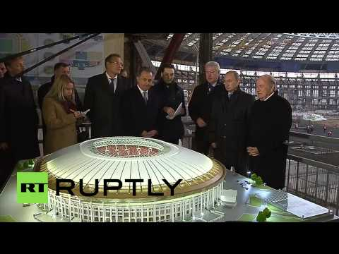 Russia: Putin and Blatter check out construction at Moscow's Luzhniki stadium