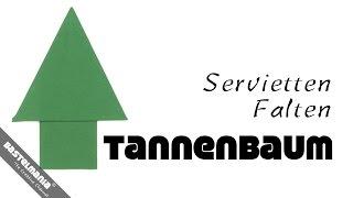 Servietten Falten Anleitung Tannenbaum Diy Napkin Folding Instruction Christmas Tree