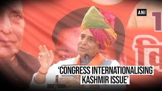 Rajnath Singh slams Congress over Rafale shastra puja criticism & Kashmir