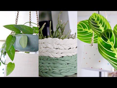 DIY Clay Hanging Plant Pots EASY! | DIY Easy Planters with Clay!