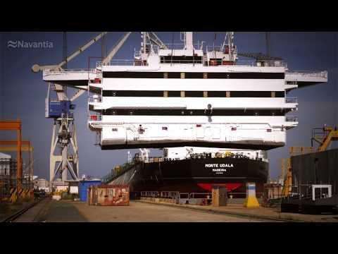 NAVANTIA Puerto Real: Secuencia de construcción del SUEZMAX 'Monte Udala'