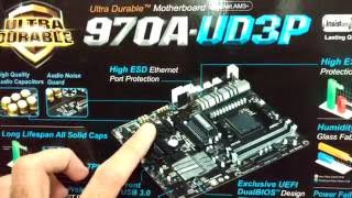 unboxing Placa-me Gigabyte GA-970A-UD3P - PT-BR