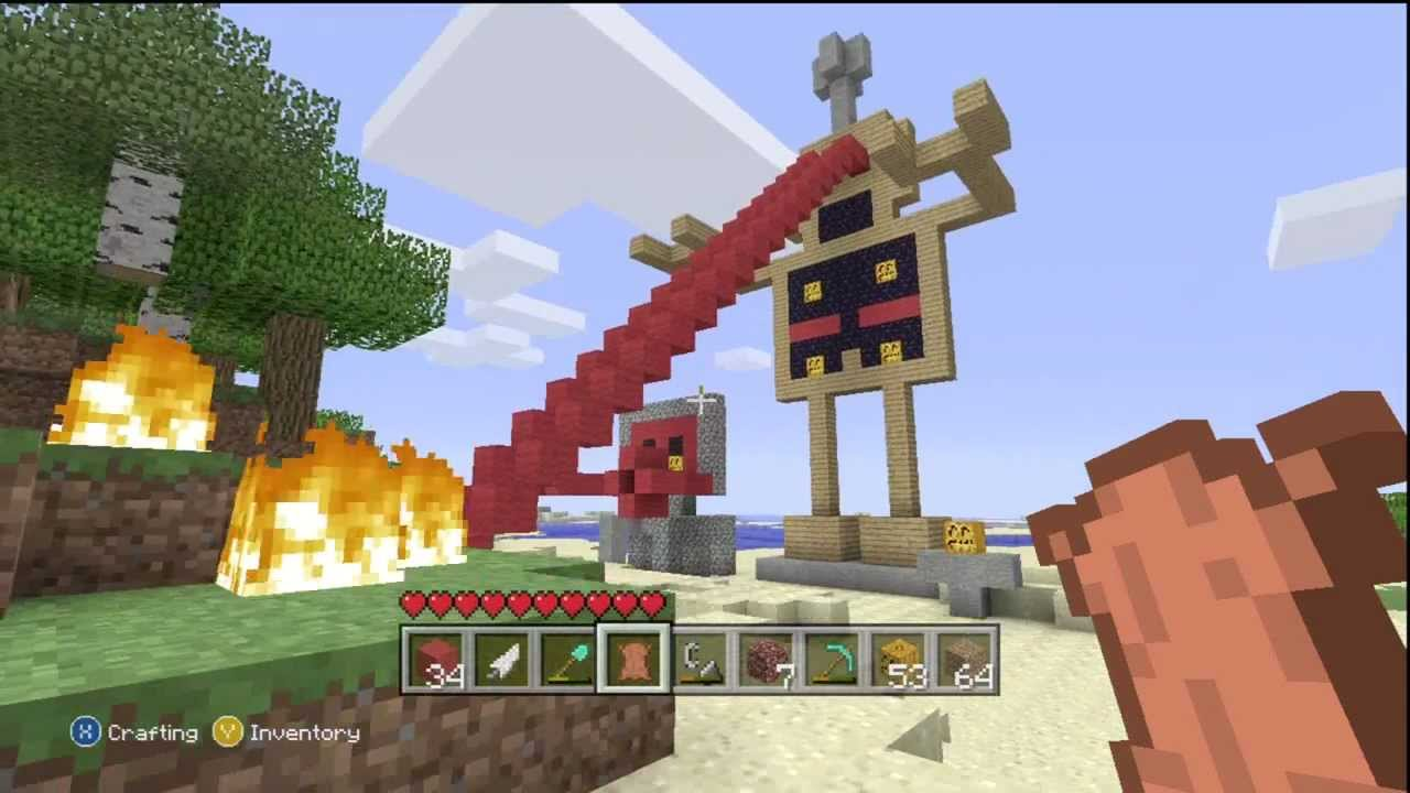 Minecraft Xbox 360 EPIC ROBOTS! My Best CREATION ...