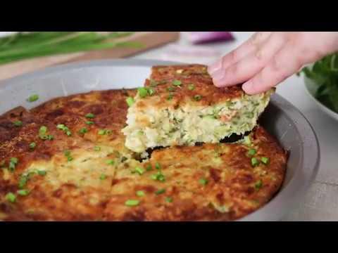 Crustless Summer Zucchini Pie