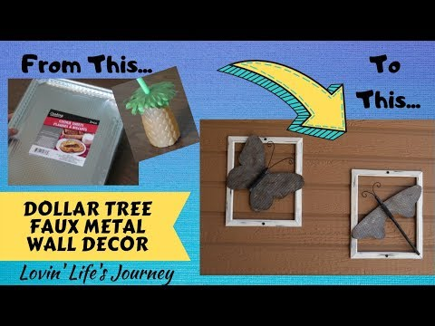 Dollar Tree DIY Faux Metal Wall Art | Butterfly & Dragonfly Decor | DIY On A Budget